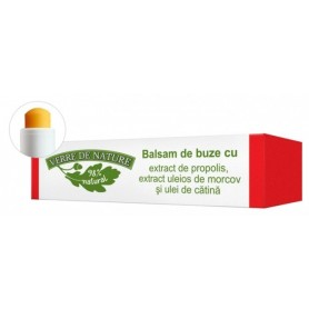 Balsam de buze cu extract de propolis, extract uleios de morcov si ulei de catina