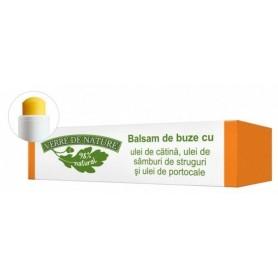 Balsam de buze cu ulei de catina, ulei din samburi de struguri si ulei de portocale