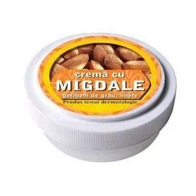 Crema cu ulei de migdale, germeni de grau, miere de albine