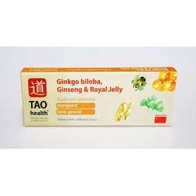Ginkgo biloba, Ginseng & Royal Jelly - Supliment Alimentar - Cutie 10 fiole x 10 ml TAO Health