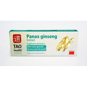 Panax ginseng Extract - Solutie Orala - Supliment Alimentar - Cutie 10 fiole x 10 ml - TAO Health