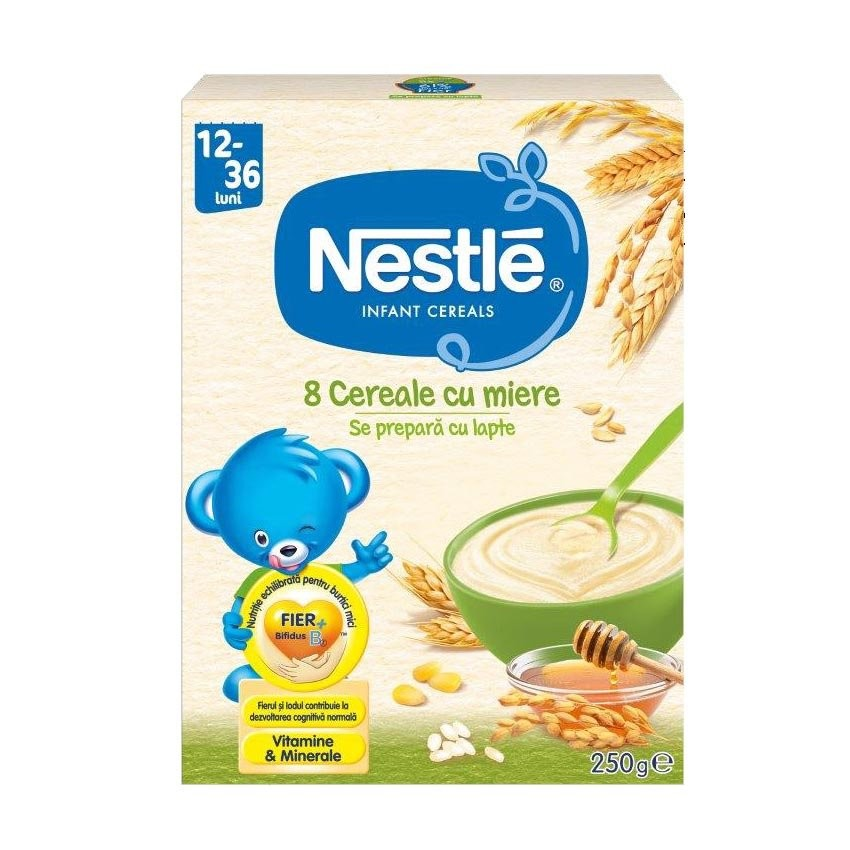 Cereale Nestle – 8 Cereale Cu Miere 250G